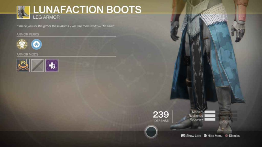 destiny 2 exotic lunafaction boots