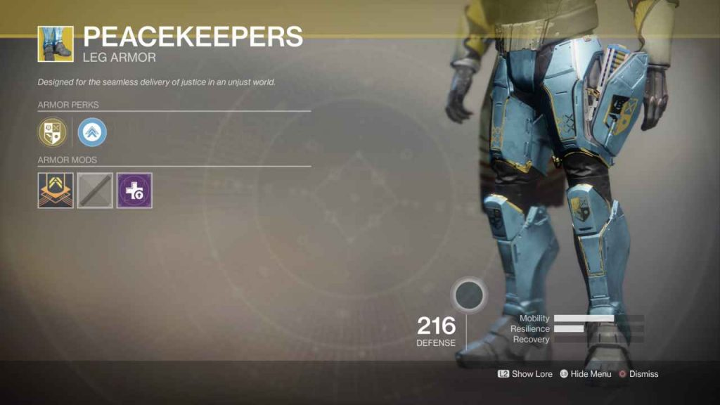 destiny 2 exotic peacekeepers