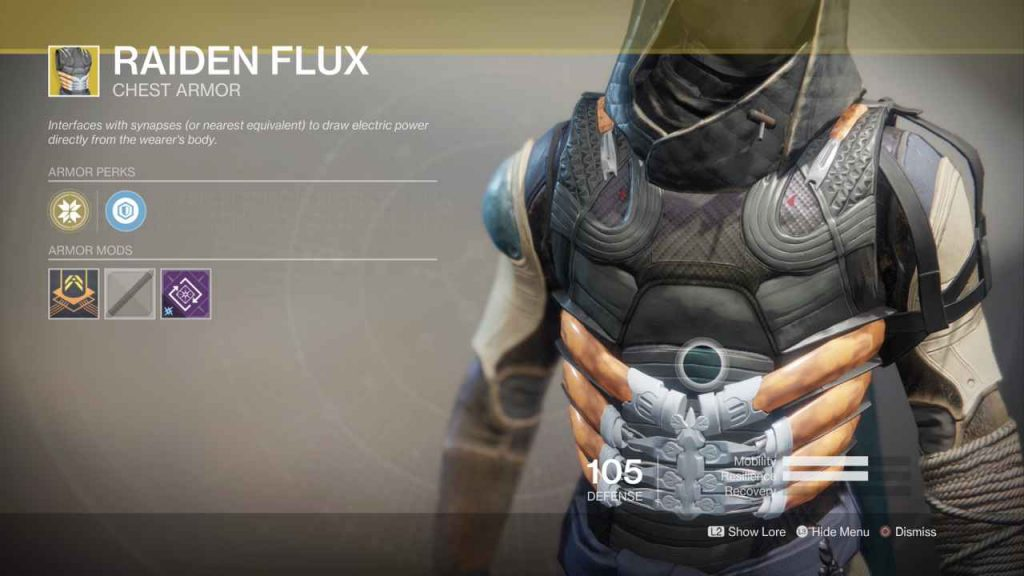 destiny 2 exotic raiden flux