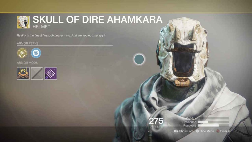 destiny 2 exotic skull of dire ahamkara