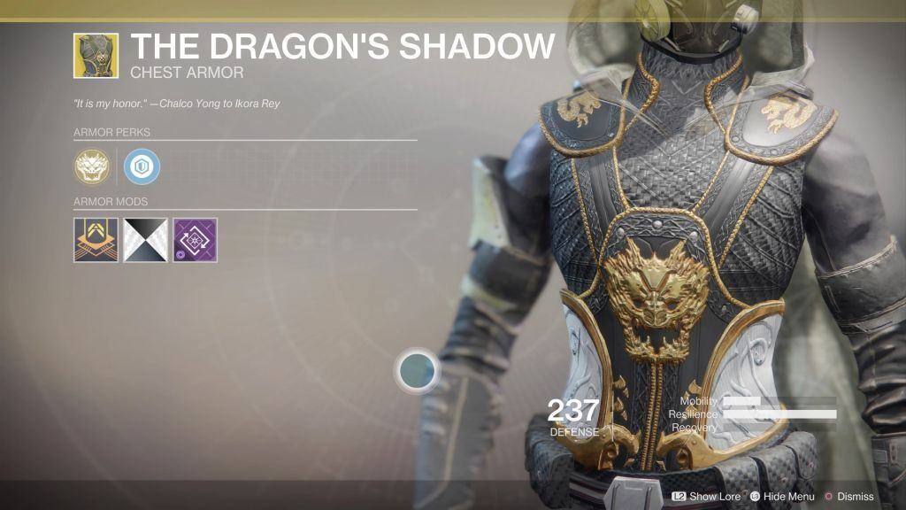 destiny 2 exotic the dragons shadow