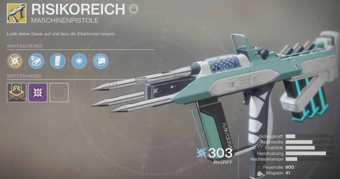 destiny 2 maschinengewehr form der schwarzen waffenkammer