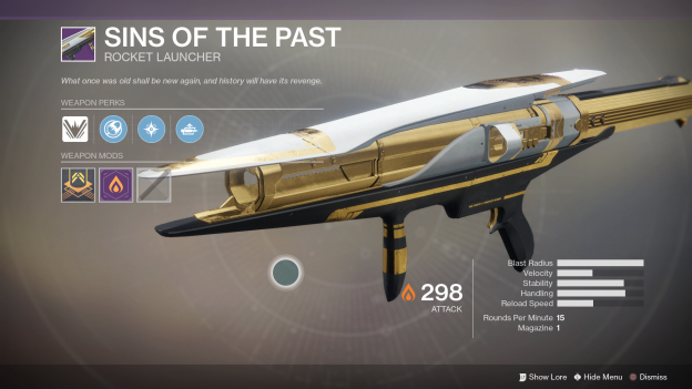 destiny 2 sins of the past