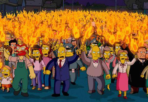 Simpsons Pitchfork Mistgabeln Shitstorm