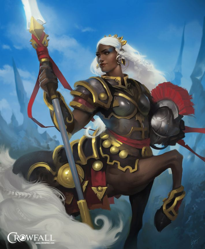 Crowfall female Centaur legionnaire