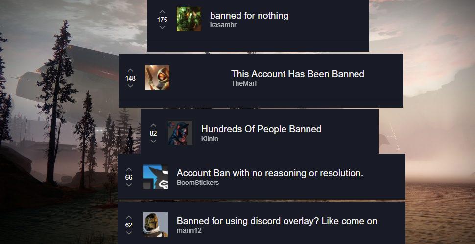 Destiny 2 Bans