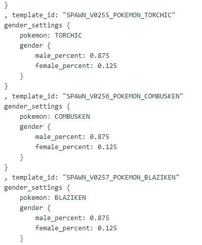Pogo Geschlechter im Code