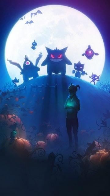 Pokémon GO Halloween Hintergrund