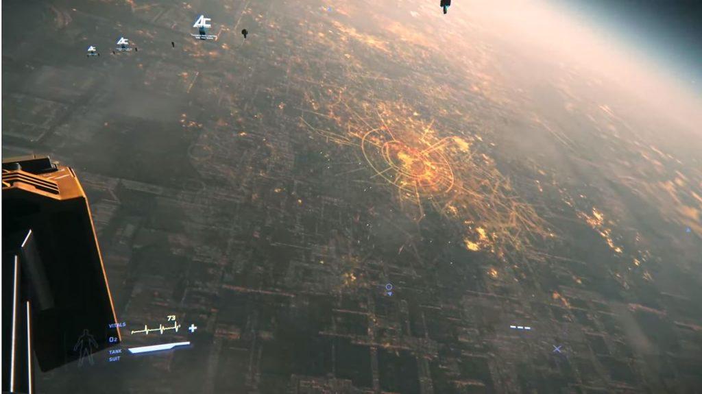 STar Citizen Stadt von oben