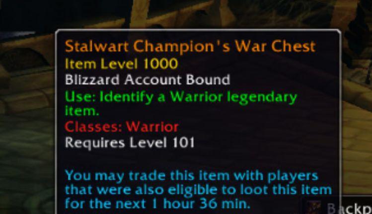 WoW Tradeable Legendaries