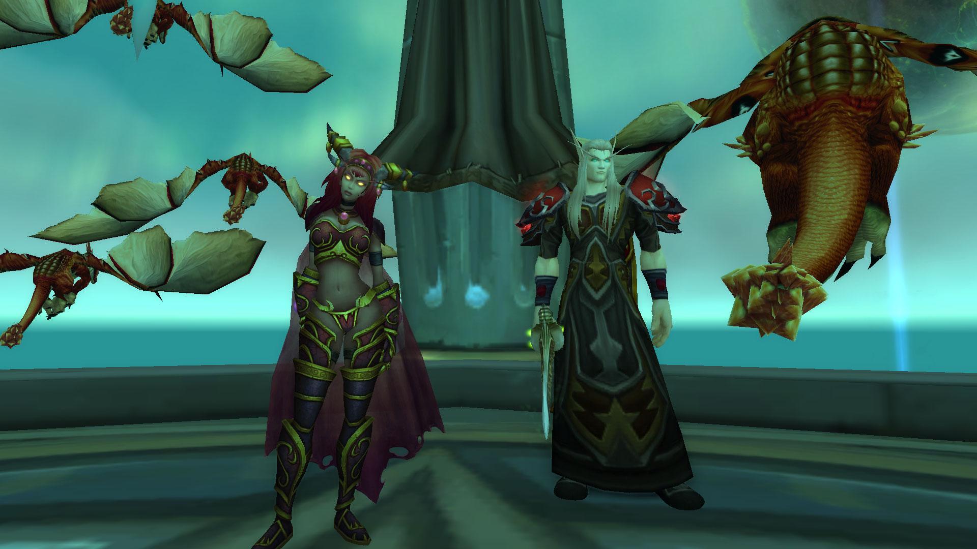 World of Warcraft Dragon Lore Krasus and Alexstrasza