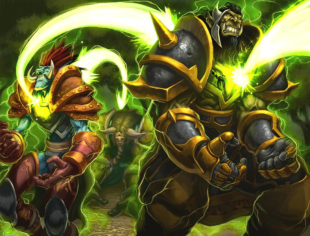World of Warcraft wow restoration shaman artwork healing wave