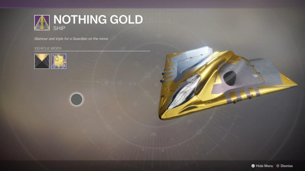 destiny 2 nothing gold