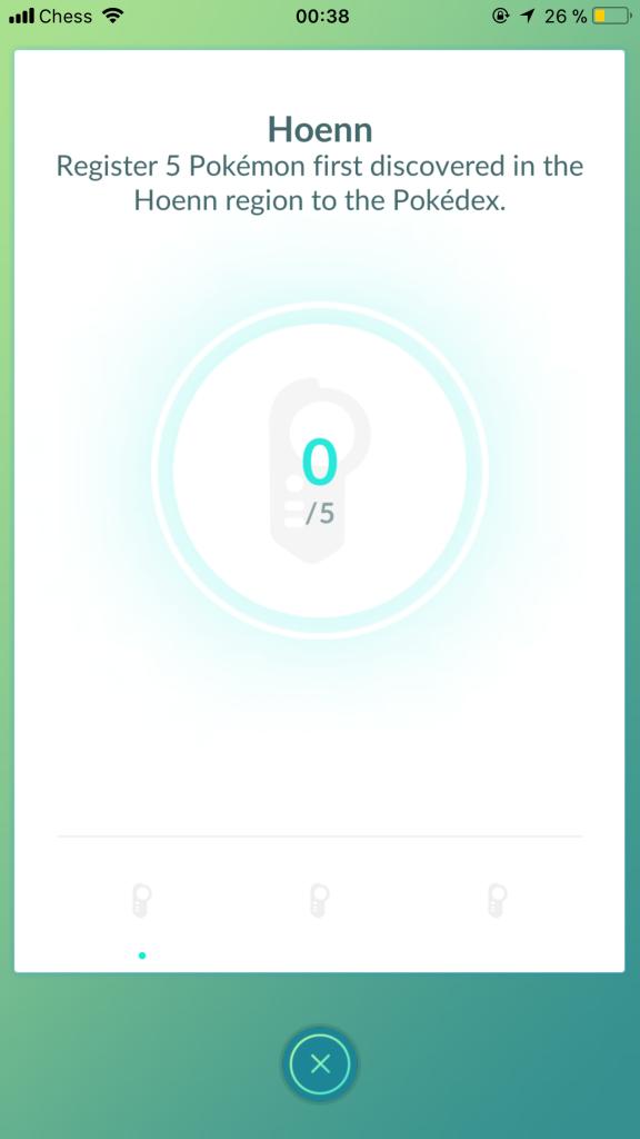 Pokémon GO Hoenn Medaille