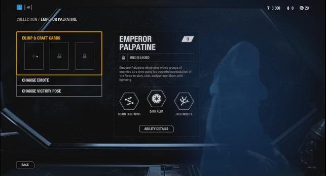 Battlefront 2 Schurke Imperator Palpatine