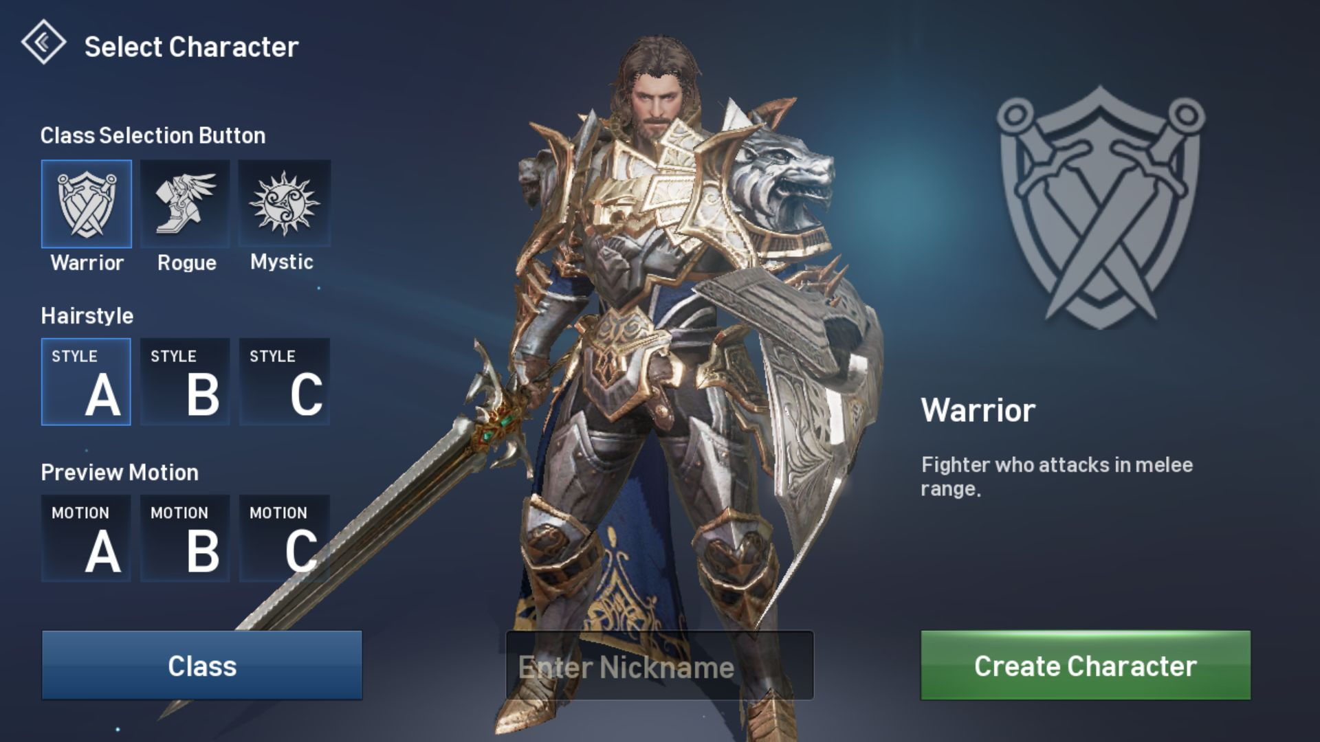 Lineage 2 Revolution Charakterauswahl