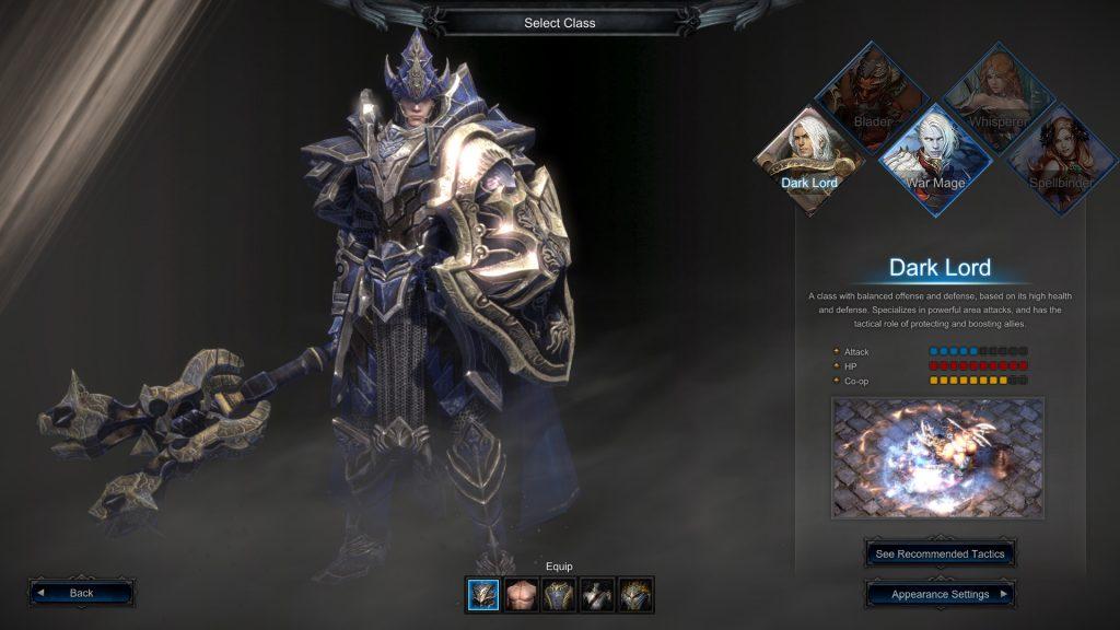 MU Legend Charakterauswahl