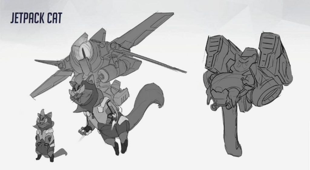 Overwatch Concept Blizzcon Jetpack Cat