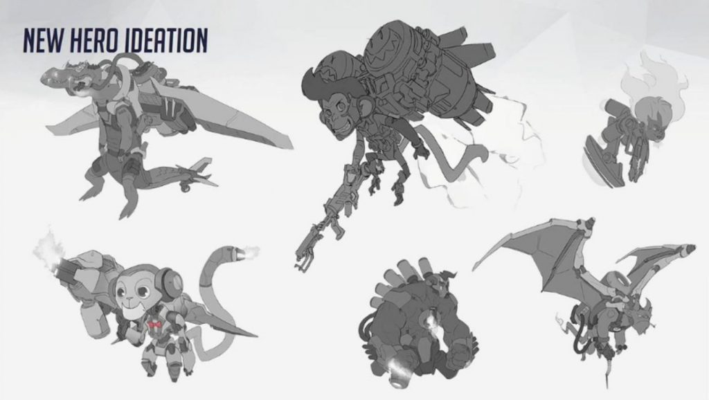 Overwatch Concept Blizzcon free flying animals