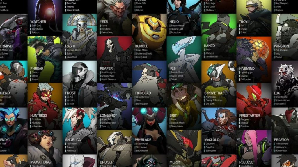 Overwatch Titan Early Hero Board
