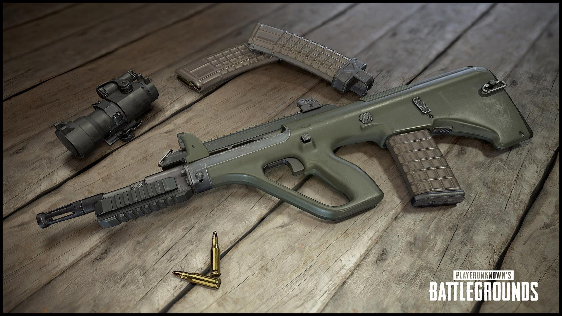 PUBG Neue Waffe AUG Kasten