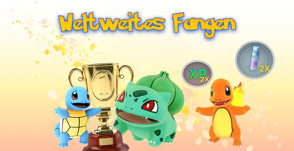 Pokémon GO Weltweites Fangen Titel mit Belohnunge