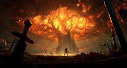 WoW Battle for Azeroth Burning Teldrassil Artwork