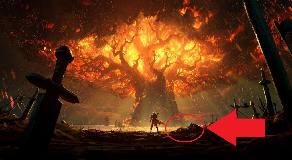 WoW Battle for Azeroth Burning Teldrassil Artwork marker