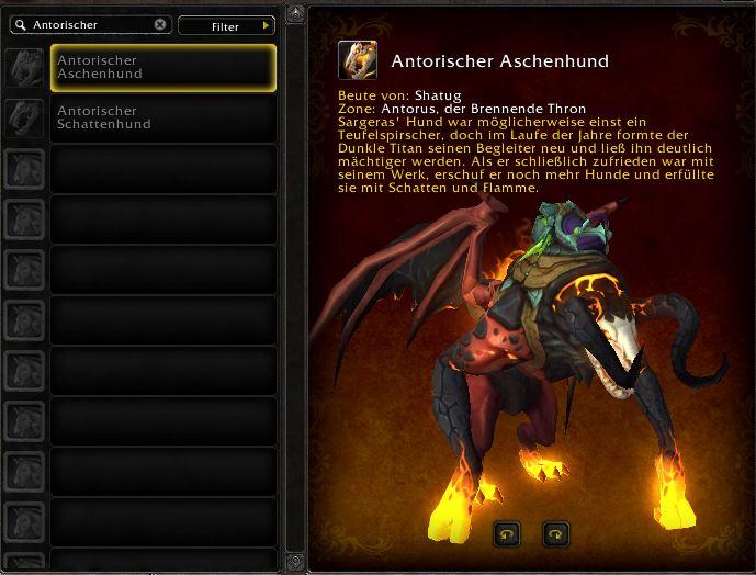 World of Warcraft Antorus antorian charhound