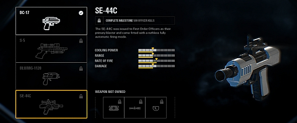 Star Wars Battlefront Waffe SE-44-C