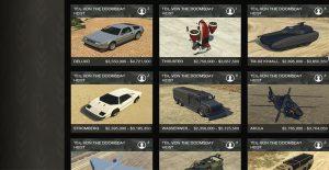 GTA 5 Online Doomsday Preise Autos