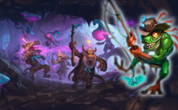 Hearthstone Kobolds and Catacombs Cinematic Still Dungeon Run Tad Title2