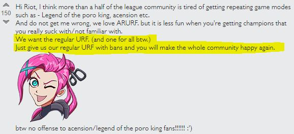 LoL URF gegen ARURF