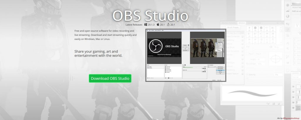 Open Broadcaster Software OBS Website Homepage