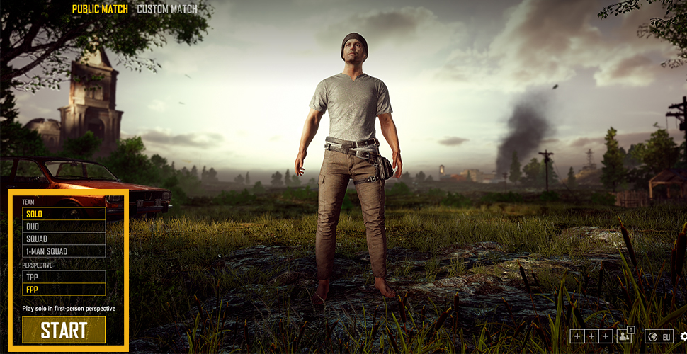 PUBG Anfänger Guide Game-Wahl