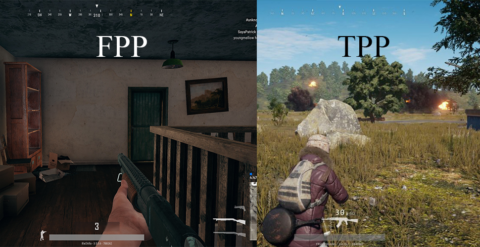 PUBG FPP TPPPUBG FPP TPP First person third person comparison