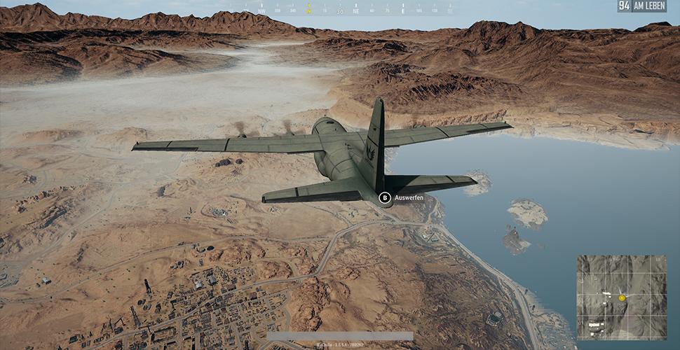 PUBG Flugzeug Sprung Miramar
