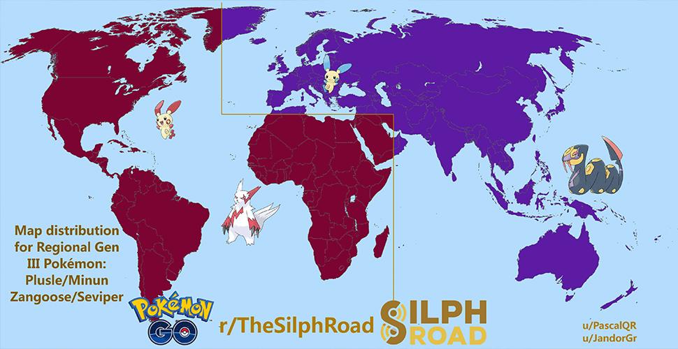 Pokémon GO Gen 3 regional