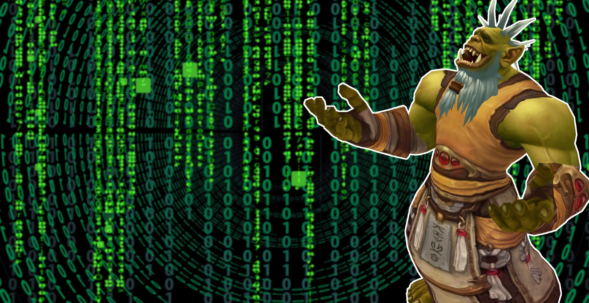 WoW DDOS Heiler Limit Orc Shaman Laughing matrix title