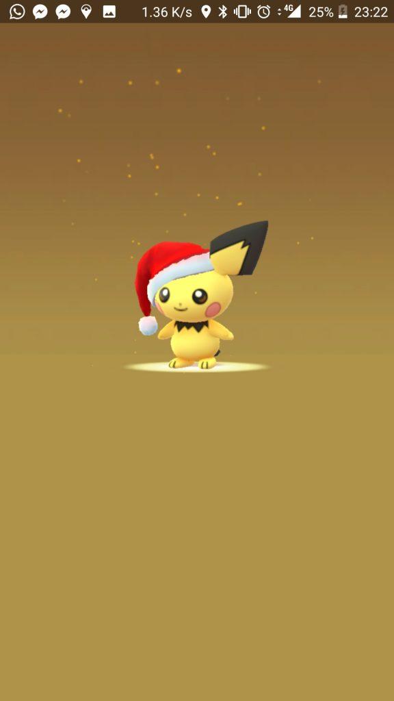 Pokémon GO Santa Pichu