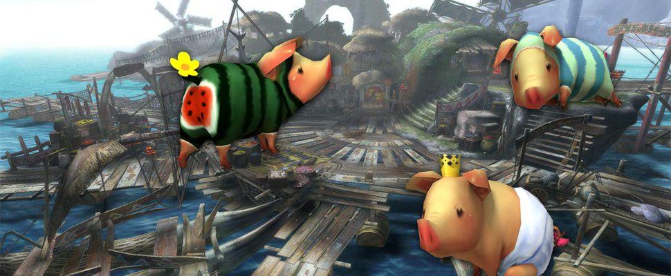 Kennst Du schon das Glücksschwein Poogie aus Monster Hunter World?