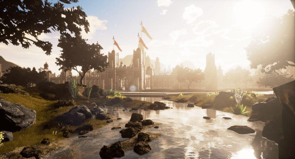 Ashes of Creation Fluss und Stadt