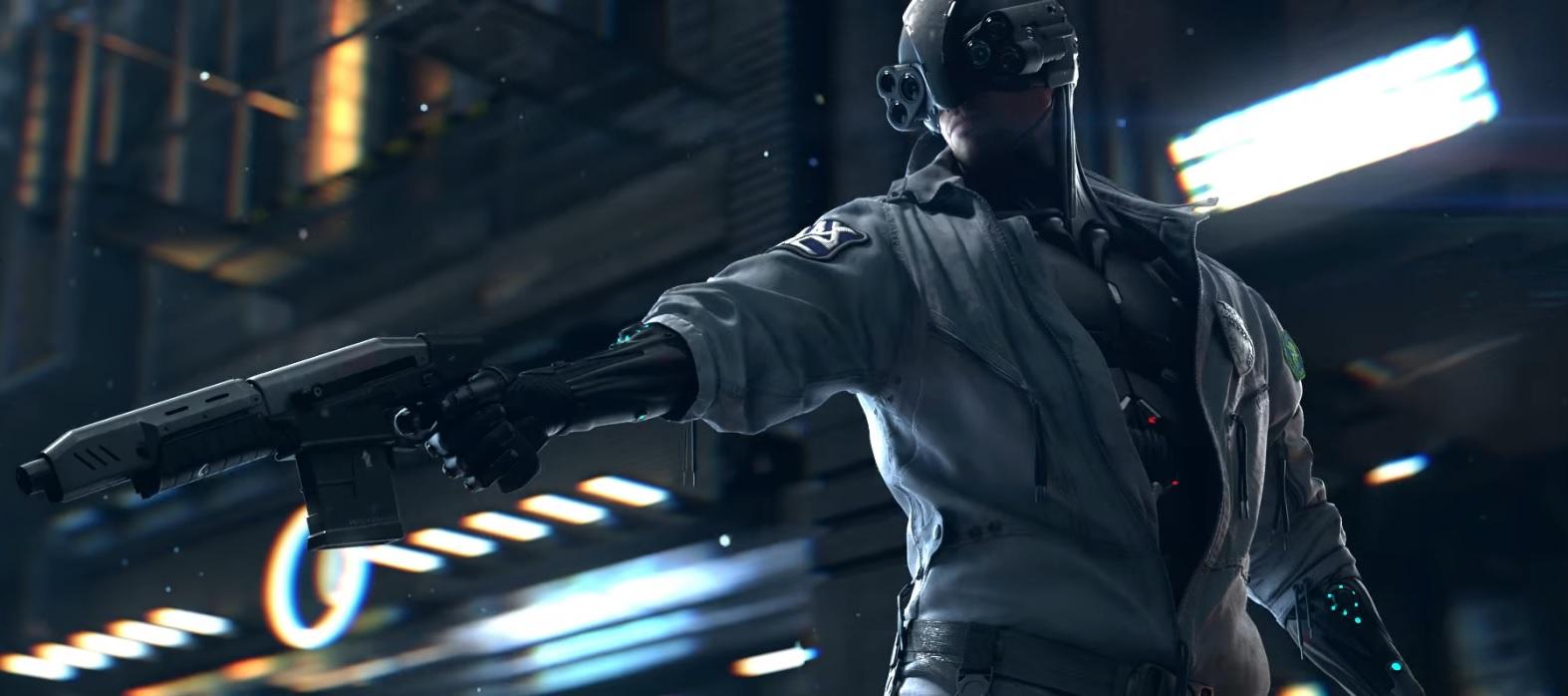 Cyberpunk Police man