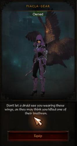 Diablo 3 Fiacla-Géar-Flügel
