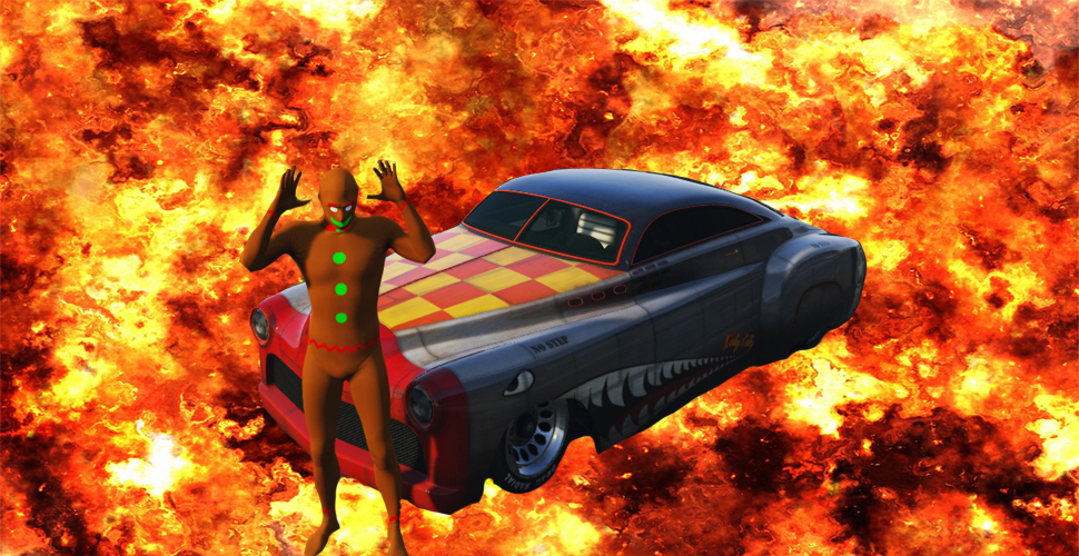 GTA 5 Online Explosion Titel