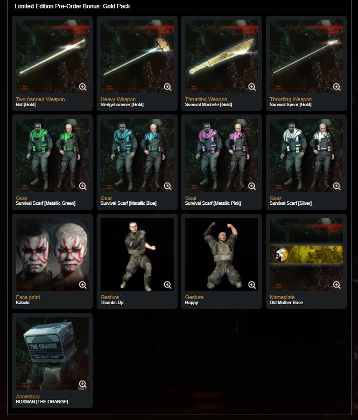 Metal Gear Survive Day 1 DLC Vorbesteller