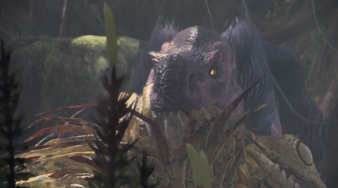 Monster-Hunter-World-Anjanath-Uralter-Wald