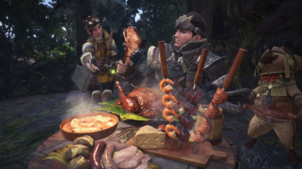 Monster Hunter World Kantine essen