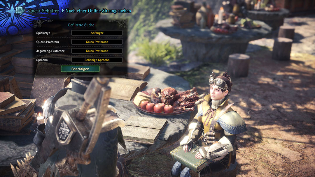 Monster Hunter World Online-Sitzung suchen