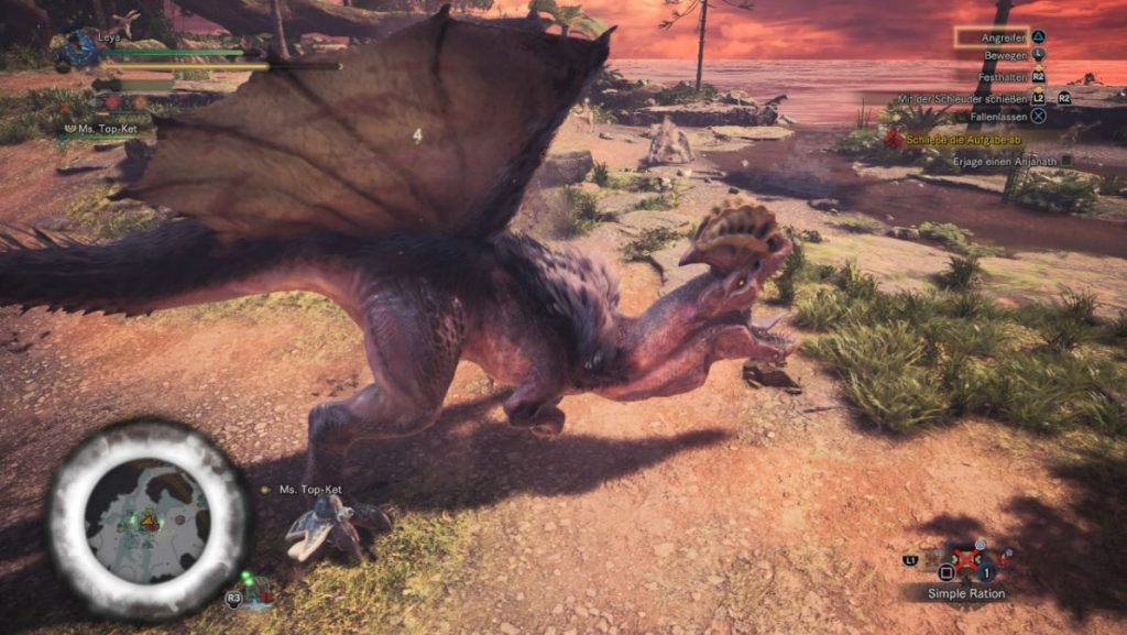 Monster-Hunter-World-anjanath-Kampf